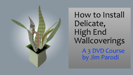 Logo for video course on how to install fine wallcoverings that are delicate